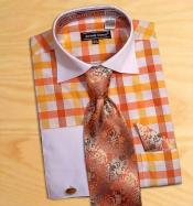 AC-418 Avanti Uomo Gold / Orange / White Check