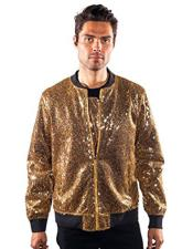 CH1928 Mens barabas galm gold Unique Shiny Flashy Fashion