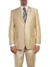 SM901 Beige Double Vent Sharkskin Classic Fit Two Piece