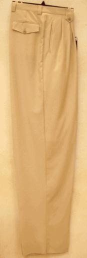 WD331 long rise big leg slacks Beige Wide Leg