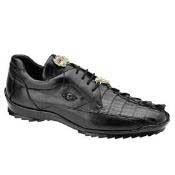 AC79Z Belvedere attire brand Vasco Hornback & Calfskin Sneakers