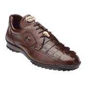 AC81Z Belvedere attire brand Vasco Hornback & Calfskin Sneakers