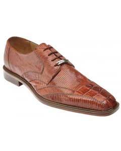 "PN82 Belvedere attire brand ""Topo"" Cognac Genuine Hornback Crocodile"