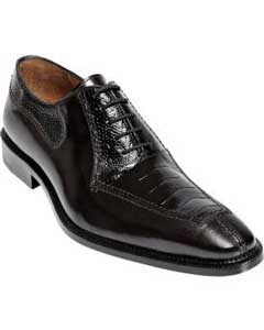 PN_I8 Belvedere attire brand Dino Ostrich & Calfskin Shoes
