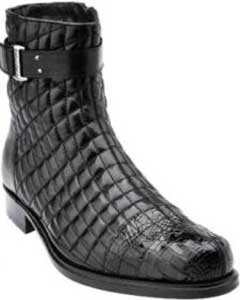 SS-468 Belvedere attire brand Libero Quilted Leather & Alligator