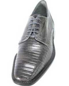 HT3920 Men's Belvedere attire brand Grey Genuine Lizard