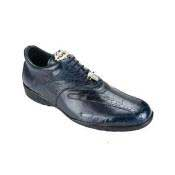 AC49Z Belvedere attire brand Bene Ostrich & Calfskin Sneakers