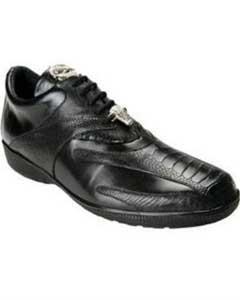 AC47Z Belvedere attire brand Bene Ostrich & Calfskin Sneakers