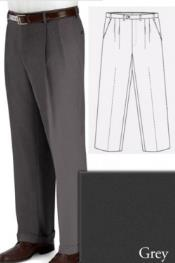 PN82 Big and Tall Dress Pants Slacks For Grey