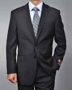 Liquid Jet Black 2-button Suit