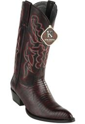 JSM-4072 Mens Western King Exotic Teju Lizard J Toe
