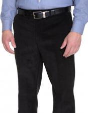 JSM-3977 Mens Ralph Lauren Corduroy Cotton Flat Front Black
