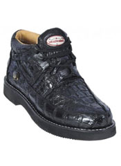 KA1281 Liquid Jet Black Genuine All-Over Crocodile ~ Alligator
