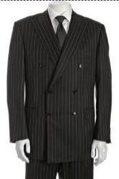 HD382 Double Breasted Suit Jacket+Pleated Slacks Pants Superior Fabric
