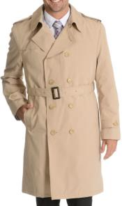 LP624 Blu Martini Double Breasted Trench Coat Liquid Jet