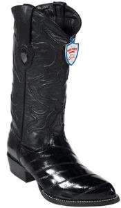 KS6730 Wild West Liquid Jet Black Eel Cowboy Boots
