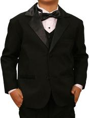 Jet Black Boys Suit