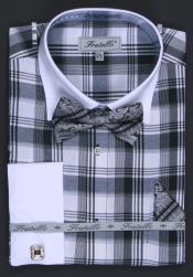 4G3 French Cuff Dress Shirt Set - Liquid Jet