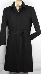 ME9291 Wool Fabric Blended Belted overcoats outerwear Top Coat