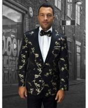 GD1715 Mens White & Silver Tuxedo Lapel Vested Tux