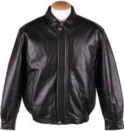 MK846 Quilted Lining Lamb Leather Bomber Jacket Liquid Jet