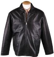 MK849 Liquid Jet Black Lamb Leather Zip JD Jacket