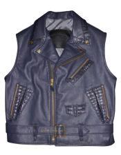 AP613 G-Gator - 903 Black Lambskin/Alligator Vest with Attached
