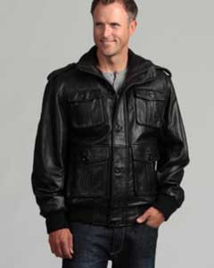 AC-202 Liquid Jet Black Lambskin Leather Bomber Jacket Available