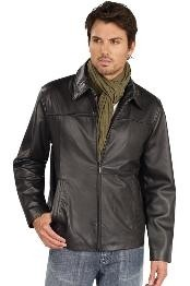 HM2444 Leather Jacket Liquid Jet Black Available in Big