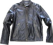 KA8761 Geuine Leather Moto Jacket Distressed Slim narrow Style