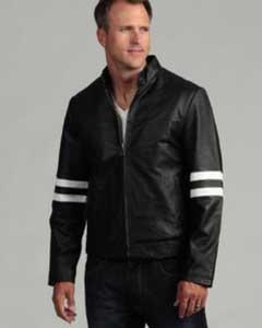 AC-208 Genuine Leather Moto Jacket Liquid Jet Black Available