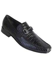 JSM-3260 Mens Los Altos Stylish Black Genuine Caiman Belly