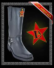 SS-3521 Motorcycle Style Boots Cowhide brown color shade