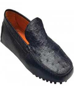 "CT7992 ""Tom"" Liquid Jet Black Genuine Ostrich / Calf"