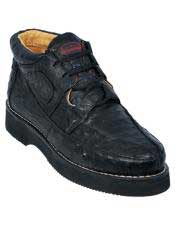 JSM-3259 Mens Los Altos Stylish Black Full Ostrich Skin