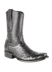 JSM-4264 Mens King Exotic Genuine Full Quill Ostrich Skin