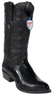 VD5639 Wild West Liquid Jet Black Ostrich Leg Cowboy