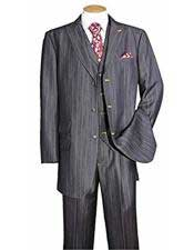Mens Black Stripe ~ Pinstripe