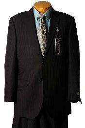 YQ8945 Suit separate online Liquid Jet Black Pinstripe Italian