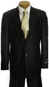 VB3422 Liquid Jet Black Pinstripe 2 Button Style affordable