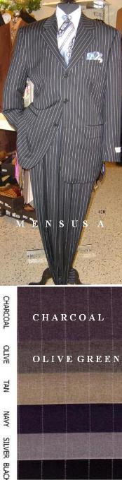 ACTD633SO Button Sharp Pinstripe Superior Fabric 120s (Dress To