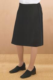 Womens Black Polyester Tuxedo Skirt