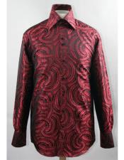Product#JSM-5839MensBlack/RedHighCollarFashion~Shiny~