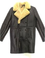 Black Sheepskin 3 Buttons
