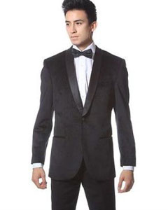 PNG67 1 Button Style Velvet ~ Velour Tuxedo With