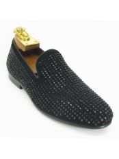 Mens Fashionable Carrucci Crystal Slip