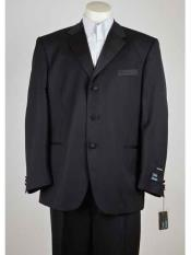 Product#SM957Men'sLiquidJetBlackPolyester3ButtonStyle