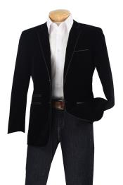 P3CC Luxurious Velvet Slim narrow Style Sport Coat -