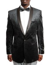 JSM-5043 Mens Black Velvet Fashion Tuxedo Jacket with Satin