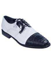 JSM-4986 Mens Oxfords Style Genuine Caiman Belly And Teju